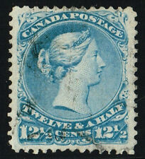 CANADA LARGE QUEEN 28i MILKY BLUE VF (JUNE3,2