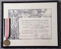 Auszeichnung + Orden Marine 1901 Expitition China Deutsches Reich Wörth SELTEN