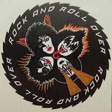 New Vinyl Sticker - Kiss Rock and Roll Over - 9cm in Diameter