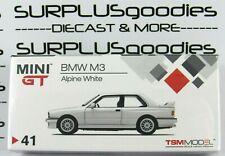 TSM Model Mini-GT 1:64 Overseas Box Edition BMW M3 Alpine White Item #MGT00041-L