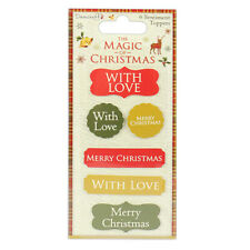 Dovecraft The Magic of Christmas Sentiment Toppers for cards & craft