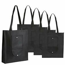 5 Pack Reusable Grocery Bags Non-Woven Heavy-Duty Shopping Grocery Extra Large