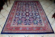 Turkish Hereke Hand Knotted Indigo Blue Anatolian Rug 5.8 x 9 Very Rare!