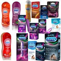 Durex Preservativi e Lubrificanti a Scelta Profilattici Stimolatori