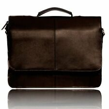 Visconti 658 Womens Leather Business Shoulder Messenger Bag Briefcase Brown
