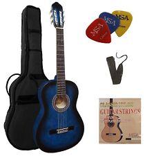 Gitarre- Konzert 7/8,Set, Tasche,Band,Saiten,3xPik,verschiedene Farben,Zubehör!n