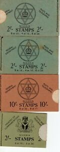 NIGERIA 4 Booklets Used Missing Yellow Toned 1957 british Empire