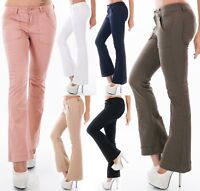 Jeans Pantaloni Donna Svasati Scossa FlareCut più Ampia Orlo XS-XL