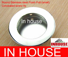 Round Stainless steel Flush pull- concealed screw fix-small-Chrome(50mm)