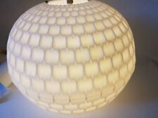 Vintage Decken Lampe Plissee Kunststoff 60er 70er mid century