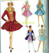Historic Costumes Medieval Victorian Adult 6 8 10 12 Sewing Pattern Uncut 2832