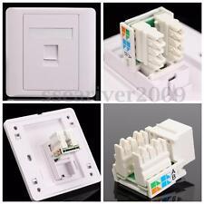 RJ45 Cat5e Socket Faceplate Network LAN Keystone Cable Wall Jack Clip Module 86