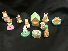 Vintage Hallmark Merry Miniatures Figurines Lot of 11 - Easter Spring