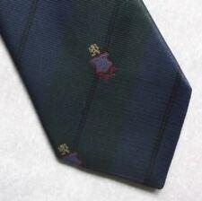 Vintage Tie MENS Necktie Crested Club Association Society STRIPED