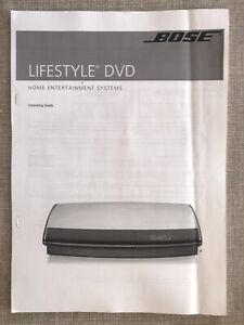 The Bose Lifestyle DVD Home entertainment system Operating Guide