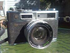 YASHICA ELECTRO 35 GS Rangefinder 35mm Film Camera With Strap Dented Lens Rim