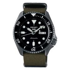 NEW Seiko 5 Sports Men's Black Bezel Dive Watch SRPD91 Automatic Nylon Strap