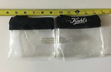 Lot Of 2 New! Kiehl's Clear Cosmetic Makeup Bag Zipper Pouch