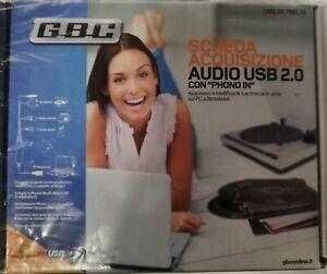 SCHEDA ACQUISIZIONE AUDIO MP3 CON PRE AMPLIFICATORE PHONO GBC 59780115