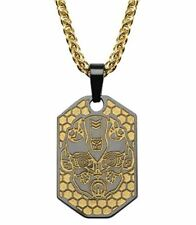 Hasbro Transformers Stainless Steel & Gold Bumblebee Pendant Necklace