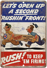 "RARE World War II, Hitler, Nazi Germany, Axis powers 10"" x 7"" Retro Metal Sign"