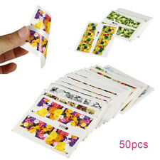 50 Sheet Nail Art Flower Water Transfer Printing Sticker Set Watermark Decal