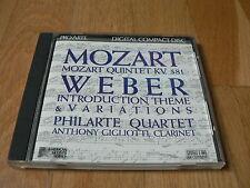 Philarte Quartet - Mozart : Quintet KV 581 - Weber : Introduction - CD Pro Arte