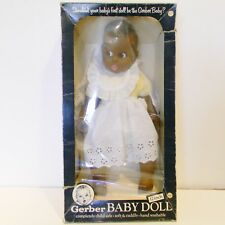 "Vintage Gerber Baby Doll Black 17"" Follow Me Eyes w/ Original Box 1979 Nrfb"