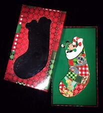 LE Stitch Pluto Eeyore Christmas Stocking Puzzle Set Disney Shopping Store Pin
