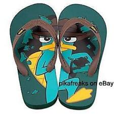New Disney Phineas and Ferb Perry Flip Flops for Kids Size Youth 13/1 USA Seller