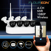 Wired/Wireless 4CH 1080P NVR Outdoor 720P WiFI IR-CUT Camera Security System US