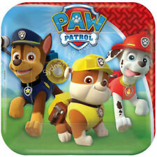 PAW PATROL SMALL DESSERT PAPER PLATES SQUARE 8PK PARTY SUPPLIES TABLEWARE SNACK