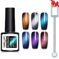 LEMOOC 8ml 6X Nagel Gellack Magnetisch Nail Art UV Gel Polish + 1X Magnet Board