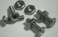 """100 PHILLIPS PAN HEAD 8-32 x 5/8"""" 316 STAINLESS STEEL Machine Screws And Nuts"""