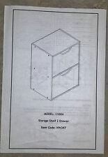 Storage Shelf 2 Drawer in Espresso (22 x 11x 15 inches)