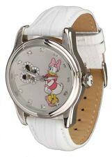 Disney Automatikuhr mit Daisy Duck Motiv - weiße Damenuhr, neu, OVP