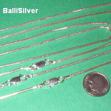 "10 pcs 5x16"" + 5x18"" Sterling Silver 925 Thick 1.6mm SNAKE CHAIN Necklaces Lot"