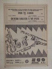 salon orchestra parts POR TU AMOR / QUERO VOLVER A MI
