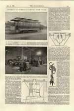 Rete Tranviaria di Elettrico Tubo Protettivo 1895 NEW YORK CONDUTTORI ARATRO contatto