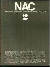 NAC ARTE CONTEMPORANEA FEBBRAIO 1974 N. 2 BOCCIONI REGGIANI MAN RAY