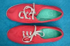 STYLISH Crocs Pink Canvas Lace Up SNEAKERS Comfy. WOMENS Size 9. NEW rrp $79.99