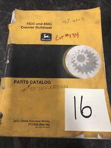 JOHN DEERE 750C 850C CRAWLER TRACTOR DOZER PARTS MANUAL BOOK CATALOG PC2509