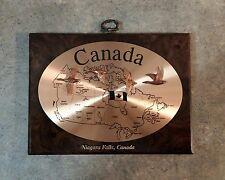 Niagara Falls, Canada Map Wall Plaque