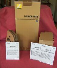 *** caja/embalaje + manual solamente *** Para Nikon Nikkor AF-S 200-500mm f/5.6E ED VR