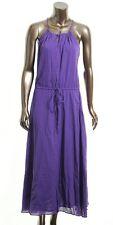 Lauren Ralph Lauren Women's NEW Purple or floral Cotton Maxi Halter Dress 8