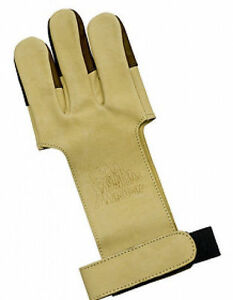 OMP Mountain Man Leather Shooting Glove - Tan Medium