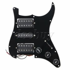 Black Loaded pickguard HSH For Humbuckers Guitar