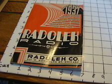 Vintage Early Paper: 1937 RADOLEK CO RADIO CATALOG so cool GREAT DECO COVER