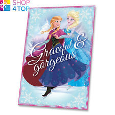 DISNEY FROZEN GRACEFUL FLEECE BLANKET PINK SOFT ELSA ANNA SNUGGING WARM GIRLS
