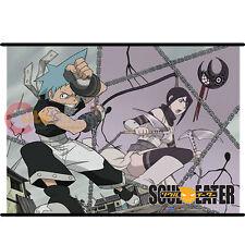 Soul Eater Wall Scroll Black Star Tsubaki GE5322 Fabric Banner Licensed